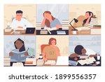 bored students study vector... | Shutterstock .eps vector #1899556357