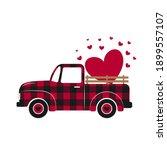 valentines  retro truck. red...   Shutterstock .eps vector #1899557107