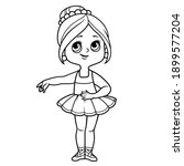 beautiful cartoon ballerina... | Shutterstock .eps vector #1899577204