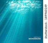 Vector Under Water Background.