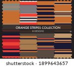 orange striped seamless pattern ... | Shutterstock .eps vector #1899643657