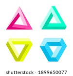 impossible triangles set.... | Shutterstock .eps vector #1899650077