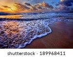 serene beach destination... | Shutterstock . vector #189968411