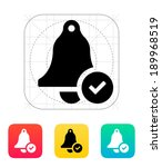 check ringing bell icon. vector ...