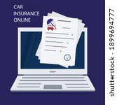 insurance policy online. car... | Shutterstock .eps vector #1899694777