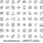 thin outline vector icon set... | Shutterstock .eps vector #1899711001