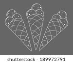 vector illustration with ice... | Shutterstock .eps vector #189972791