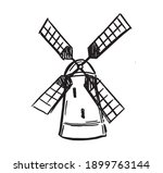 Windmill  Bakery Shop Emblem ...