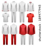 the set of various work clothes.... | Shutterstock .eps vector #189977945
