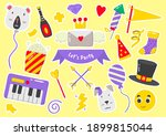 party label vector logo for... | Shutterstock .eps vector #1899815044