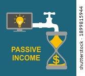 money  in hourglass flowing... | Shutterstock .eps vector #1899815944