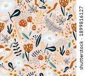 vector seamless pattern. print... | Shutterstock .eps vector #1899816127