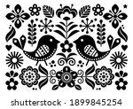 scandinavian folk art vector... | Shutterstock .eps vector #1899845254