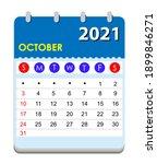 2021 calendar. wall calendar... | Shutterstock .eps vector #1899846271