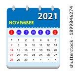 2021 calendar. wall calendar... | Shutterstock .eps vector #1899846274