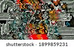 abstract psychedelic fractal...   Shutterstock . vector #1899859231