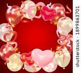 valentines day dark red...   Shutterstock .eps vector #1899863701
