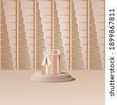 3d platform studio minimal... | Shutterstock .eps vector #1899867811