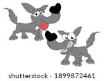 cute wolf animal cartoon ... | Shutterstock .eps vector #1899872461