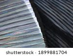 fashionable pleated fabric...   Shutterstock . vector #1899881704