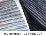 fashionable pleated fabric...   Shutterstock . vector #1899881707