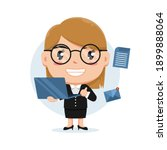 character of woman holding... | Shutterstock .eps vector #1899888064