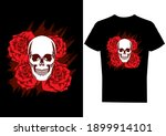skull with roses illustration... | Shutterstock .eps vector #1899914101