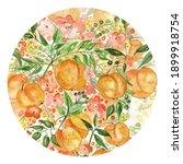 Round Watercolor Pattern With A ...
