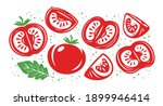 collection of fresh red... | Shutterstock .eps vector #1899946414