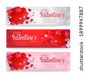 valentine's day banner  red and ...   Shutterstock .eps vector #1899947887