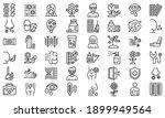 seasonal allergy icons set.... | Shutterstock .eps vector #1899949564
