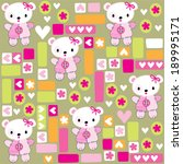 cute teddy bear girl pattern...