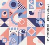 square geometric shapes... | Shutterstock .eps vector #1899960127