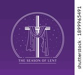 the season of lent banner with... | Shutterstock .eps vector #1899965491