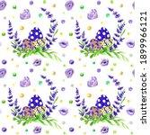 watercolor easter seamless...   Shutterstock . vector #1899966121