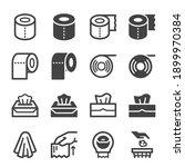 tissue paper icon set vector... | Shutterstock .eps vector #1899970384