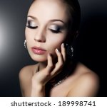girl with beautiful make up on... | Shutterstock . vector #189998741