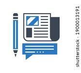press release related glyph...   Shutterstock . vector #1900013191