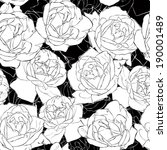 seamless pattern with  roses.... | Shutterstock .eps vector #190001489