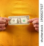 close up of a man in a yellow...   Shutterstock . vector #1900027537