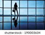 Outline Of Office Worker With...