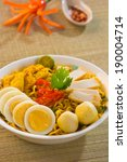 spicy curry instant noodles.... | Shutterstock . vector #190004714