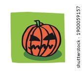halloween pumpkin original... | Shutterstock .eps vector #1900059157