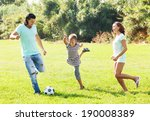 middle aged couple and teenager ... | Shutterstock . vector #190008389