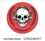 gaming logo gaming skull red... | Shutterstock .eps vector #1900108357