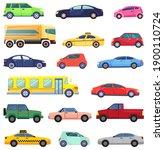 vehicles vector  isolated set... | Shutterstock .eps vector #1900110724