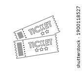 ticket icon in trendy design