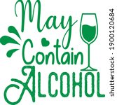 may contain alcohol vector file  | Shutterstock .eps vector #1900120684