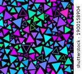 neon retro pattern of... | Shutterstock .eps vector #1900158904