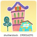 crayons and a sense of graffiti ... | Shutterstock . vector #190016291